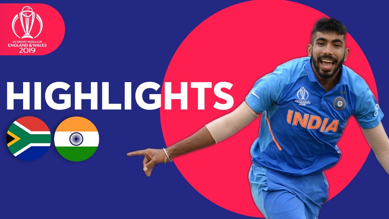 South Africa vs India | ICC Cricket World Cup 2019 - Match Highlights